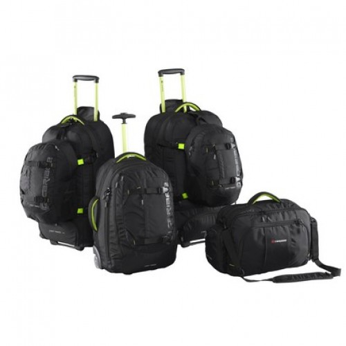 Caribee Fast Track Luggage Set (black)