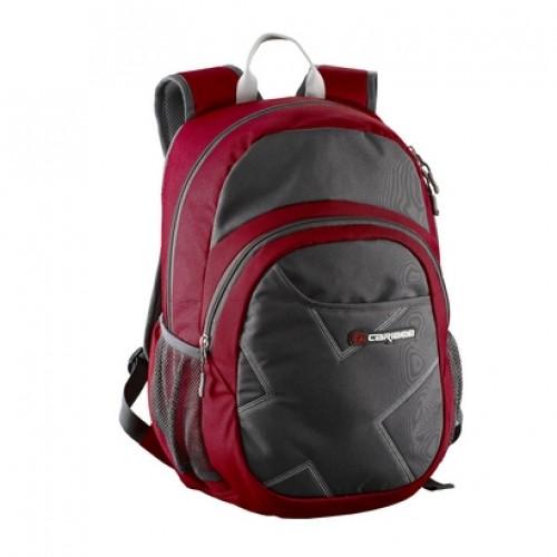 Caribee Deep Blue Backpack (red/charcoal)