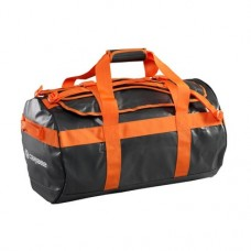 Caribee Kokoda 65L Weatherproof Duffel Bag (charcoal/orange)