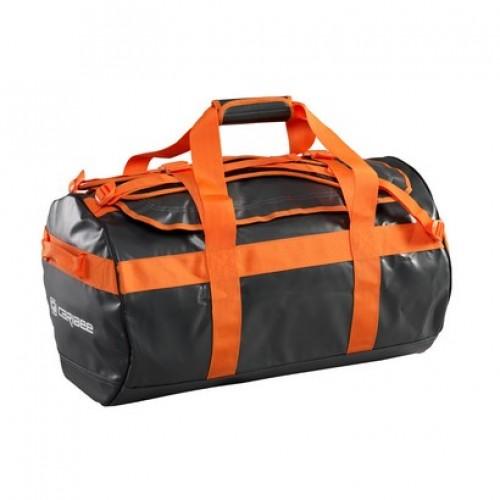 Caribee Kokoda 65L Weatherproof Duffel Bag (charcoal/orange)